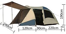 фото Палатка Coolwalk TASMAN 4V DOME PLUS OZtrail OZ4V+ 4-х местные от магазина Camping Elite